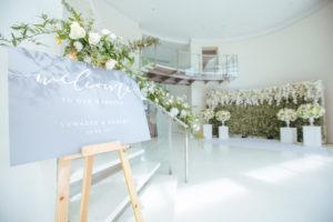 Hochzeit Page_การจัดดอกไม้ตรงด้านหน้าต้อนรับ